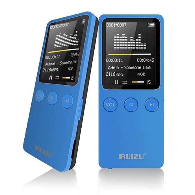 "Mini RUIZU X08 1.8 ""Pantalla Altavoz Reproductor de MP3 de 8 GB 200 Horas de Deporte Digital MP3 Reproductor de Música FM TF HIFI Jugador del Vedio de Radio walkman"