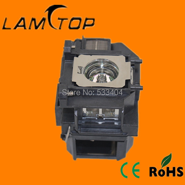 Free shipping  LAMTOP  projector lamp  with housing/cage  for  EB-C05S/EB-C10SE/EB-C15S projector lamp with housing elplp77 for eb 1970w eb 1975w eb 1980wu eb 1985wu eb 4550 eb 4650 eb 4750w eb 4850wu eb 4950wu