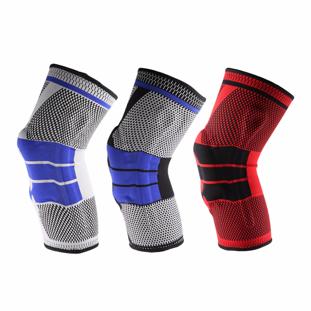 1PC Basketball Knee Pads Support Brace Wrap Elastic Kneepad Volleyball Sports Safety Protector Breathable Guard Running Cycling