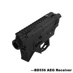 Nylon BD556 Airsoft receptor para AEG cuerpo de Metal Gel dividir Airsoft de pistola de Paintball caso-Envío Gratis