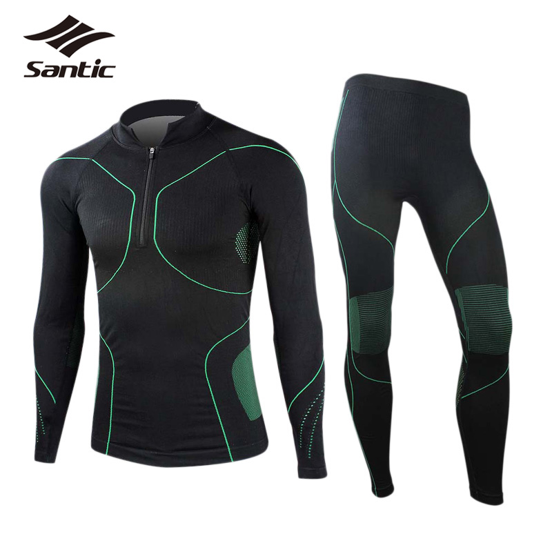 Santic Cycling Base Layer Men Seamless Long Sleeves Elastic Breathable Outdoor Bicycle Underwear Cycling Suits Tights Clothing italbaby конверт на молнии italbaby cuoricini