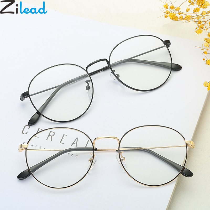 Zilead Metal Round Reading Glasses For Women&Men Clear Lens Presbyopia Spectacles Eyeglasses Hyperopia Eyewear Unisex