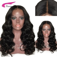 Carina Brazilian Loose Wave Lace Front Silk Base Wigs with Baby Hair Pre Plucked Hairline Remy Hair Front Lace Wigs
