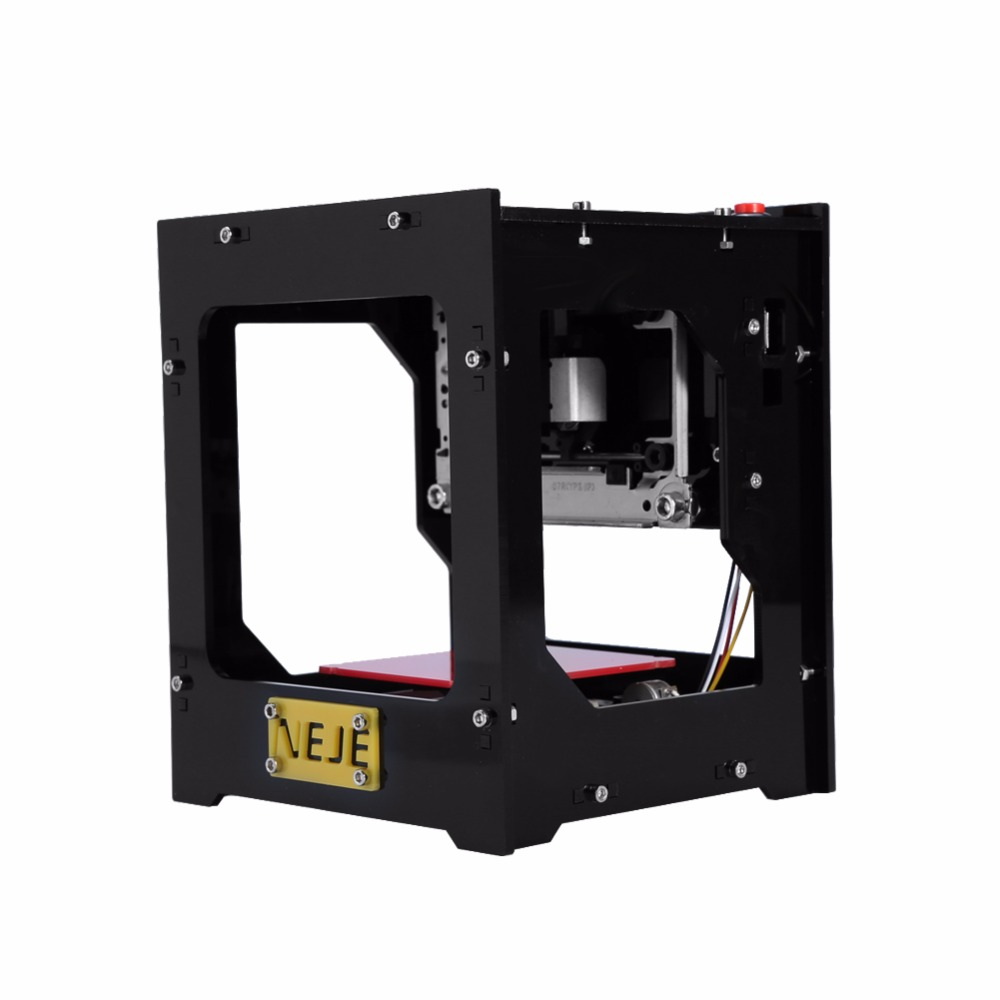 Mini Laser Engraver Wood Laser Engraver Machine Automatic DIY Print USB Carving Machine CNC Wood Off-line CNC Operation 1000MW