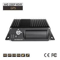 Barato Seguimiento GPS 4CH AHD 1080P tarjeta SD 256G DVR móvil g sensor de retraso de apagado