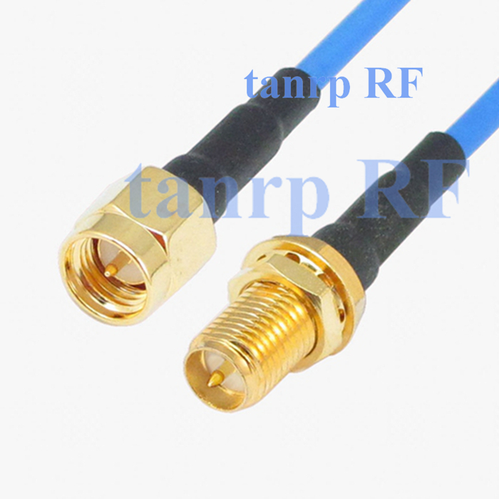20in SMA male plug to RP SMA female jack RF 3G 4G router WIFI 50CM coaxial Sexi Flexible blue jumper extension cable RG405