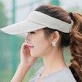 Luz do sol de Verão 2016 Estilo Moda Popular Lantejoulas Borboleta Mulher Viseira Esportes Ao Ar Livre Boné de Beisebol Chapéu de Sol para As Mulheres e uma Menina