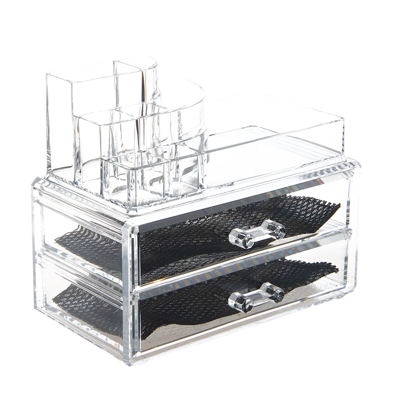 NEW Cosmetics Organizer Clear Acrylic Makeup Organizer Holder Multiple Display