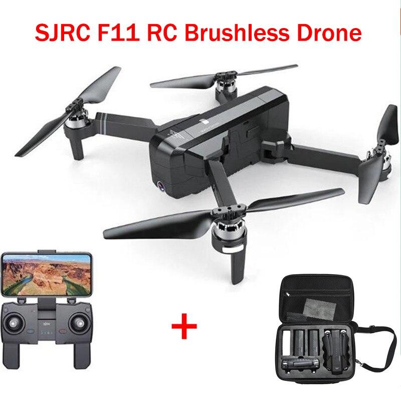 Estrela PRINCIPAL SJRC F11 gps 5G WIFI Fpv Com ÂNGULO Hd Câmera Selfie Alta modo De Espera câmera 1080 P brushless RC Zangão Quadcopter