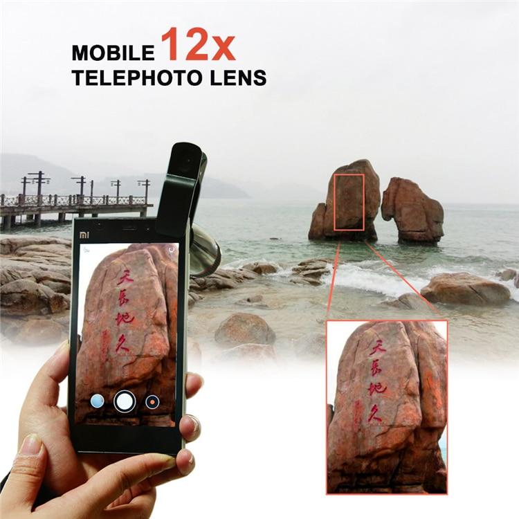 Neues 8in1 Universal Clip 12X Zoom Teleobjektiv + Kabelgebundener - Handy-Zubehör und Ersatzteile - Foto 2