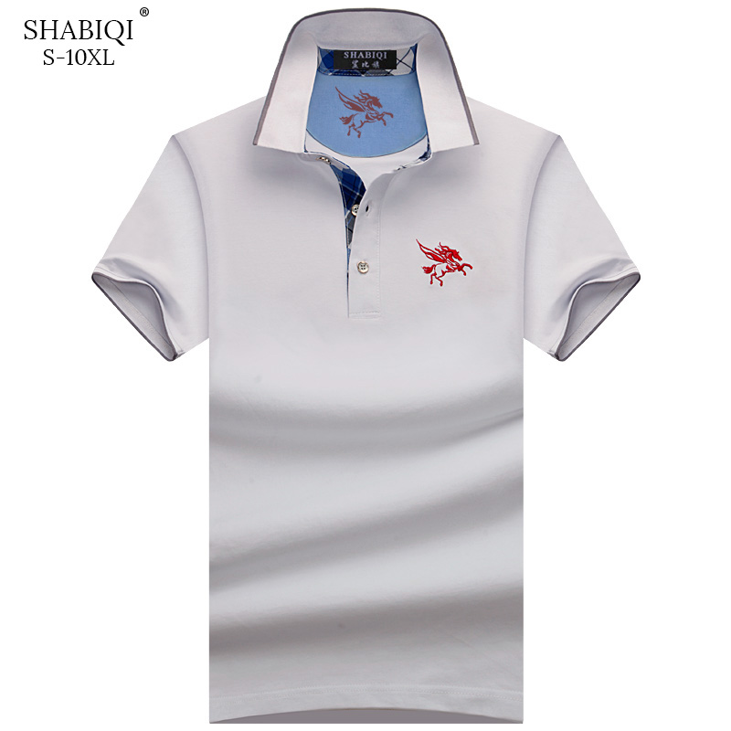SHABIQI 2019 NEW Men   Polo   Shirt Summer Short Sleeve   Polos   Shirt Mens Camisa   Polo   95%Cotto Baseball coat Pure color S-10XL
