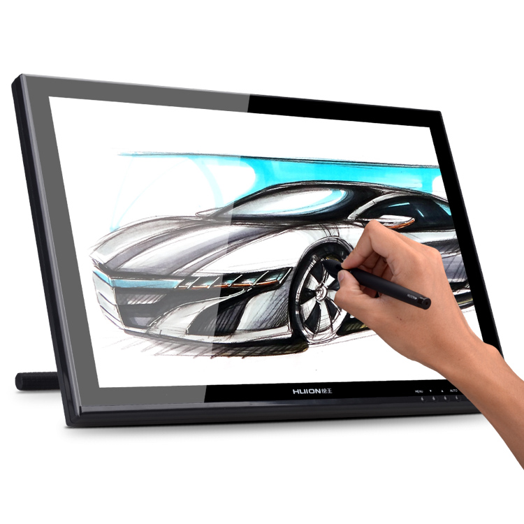 Huion GT-190 19Professional Drawing Monitor HD Pen Display Touch Screen LCD Monitor Digital Graphic Interactive Panel  5080 LPI huion h580 usb interactive graphic tablet w function keys black yellow