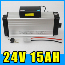 24V 15AH Aluminum Rear rack Lithium battery electric bicycle Scooter Power  250W 350W 2415-001