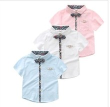 Ношения --- новой короткими детской лет рукавами цветочные одежды детская хлопок