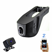 Wifi 1080P Hidden Full HD Car DVR Auto Camera Video Recorder Dash Night Vision Front Back Double Camera