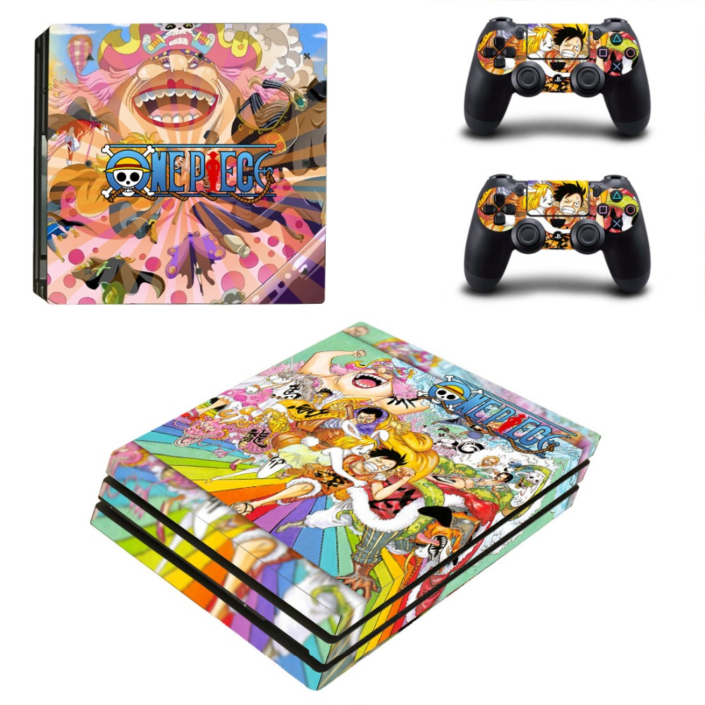 One Piece PS4 Pro Vinyl Skin Sticker Cover for Playstation 4 System Console and Controllers