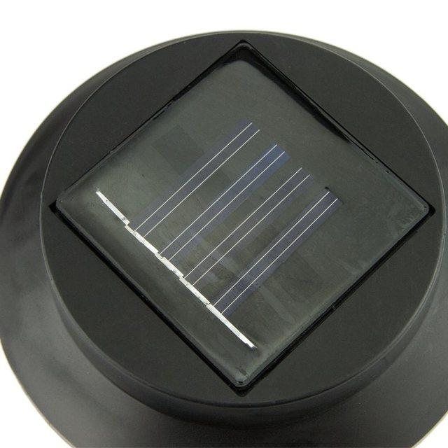 3 LED Black Solar Power Powered Outdoor Garden Fence Yard Wall Gutter Pathway Lamp Light Wall Bracket