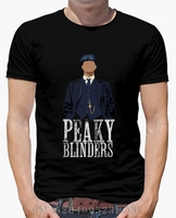 2017 Spring Summer Limited T Shirt Men Peaky Blinders White Short Sleeves Character Knitted Anime Mens