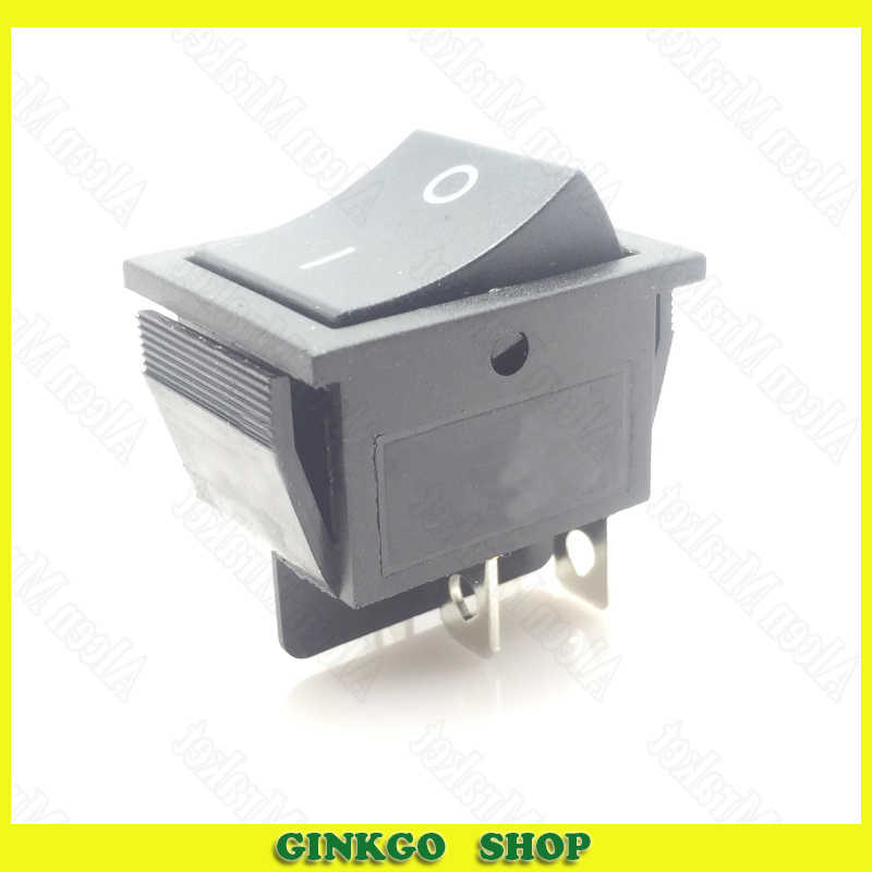"300 יח'\חבילה KCD4 Rocker Switch שחור 4 רגל 2 קובץ 16A 250 V 31*25 מ""מ"