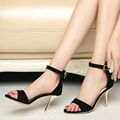 Summer Female High Heels Strap Sandals Women Black Grey Sandal Shoes sys-858