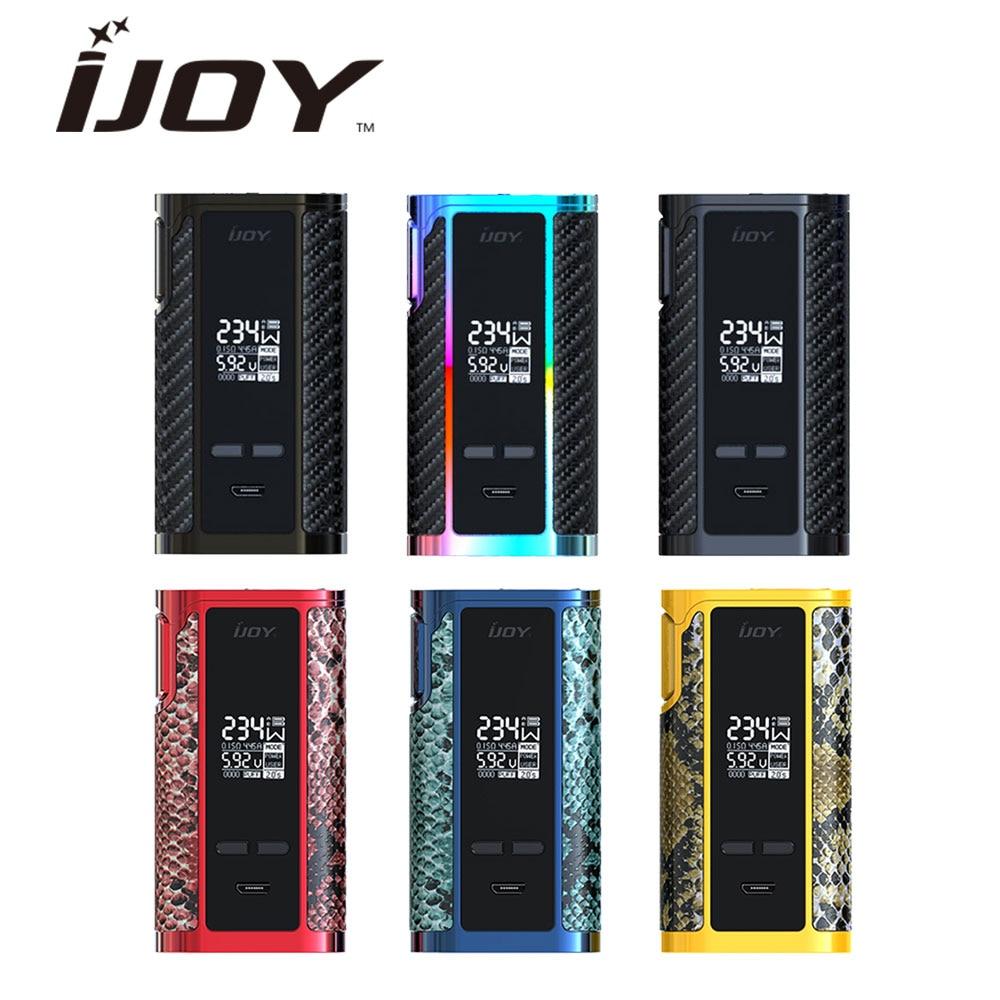 100% Original 234 W IJOY Captain PD270 TC boîte MOD 6000 mAh batterie intégrée boîte à cigarettes électronique Mod VS Ijoy RDTA boîte Vape Mod
