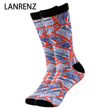 2017 I love beer printing Men and women fashion Funny socks 3d printed socks 200 knitting oil painting compression socks