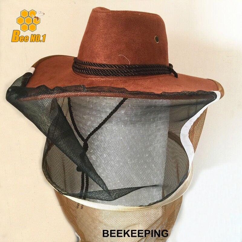 2017 nova exportação orientada para a prevenção de abelha apicultura  ferramenta modelo cowboy cap chapéu abelha apicultura equipamentos em  Comedouros e ... e93e569c997