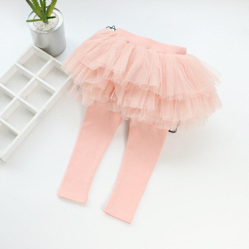 Детские леггинсы; леггинсы для девочек; юбка-пачка; брюки; юбка для малышей; леггинсы; детская одежда - Цвет: Розовый