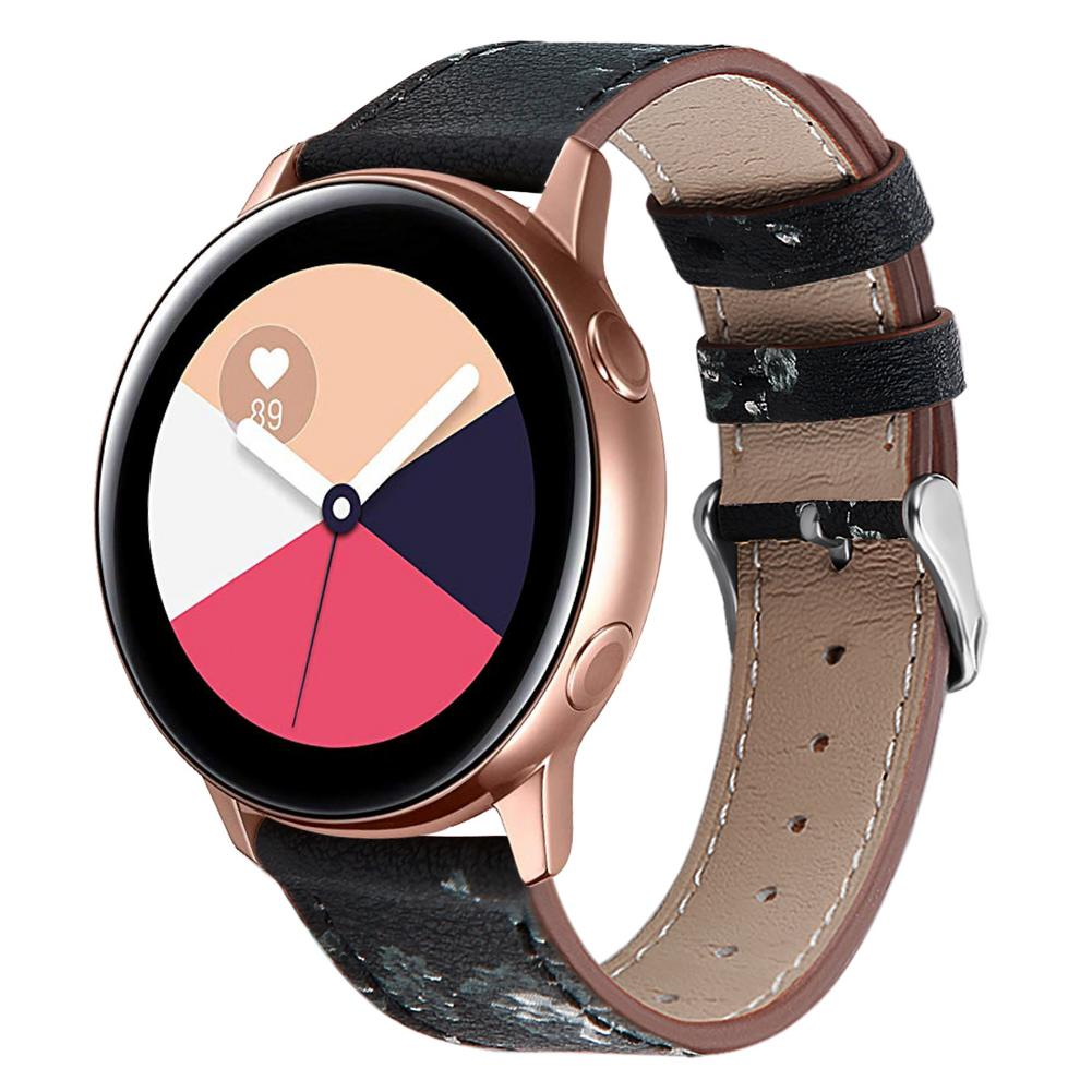 High Quality Replacement Classic Leather Watch Band Wrist Strap Comfortable For Samsung Galaxy Watch Active-in Smart Accessories from Consumer Electronics