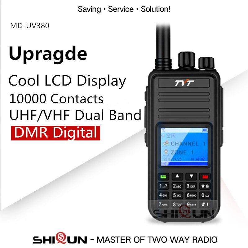 Hot TYT MD UV380 DMR Walkie Talkie GPS Dual Band UHF VHF Tier1 2 Digital 5W