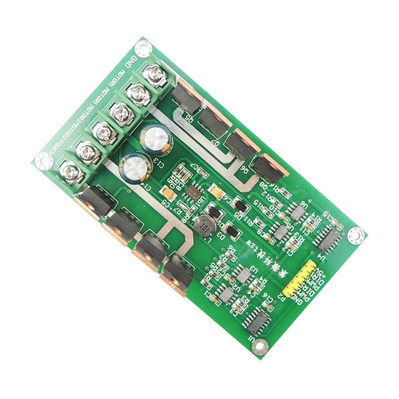 DC Stepper Motor Drive Controller Dual Motor Driver Module board H-bridge DC MOSFET IRF3205 3-36V 15A Peak 30A