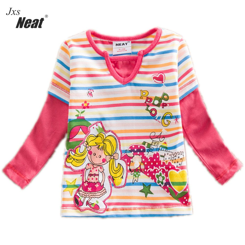 girls long sleeves T-shirt neat nova 2017 special cotton fashion comfortable girl baby s ...