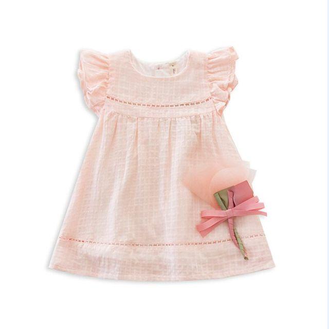 Vestido del bebé del verano la muchacha embroma la ropa flor vestido de los niños partido de la princesa vestidos para las niñas vestido infantil 3 color
