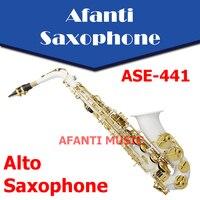Afanti Music Eb tone / Nickel Plated/ Silvering Alto Saxophone (ASE 441)