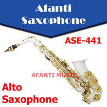 Afanti Music Eb tone / Nickel Plated/ Silvering Alto Saxophone (ASE-441)