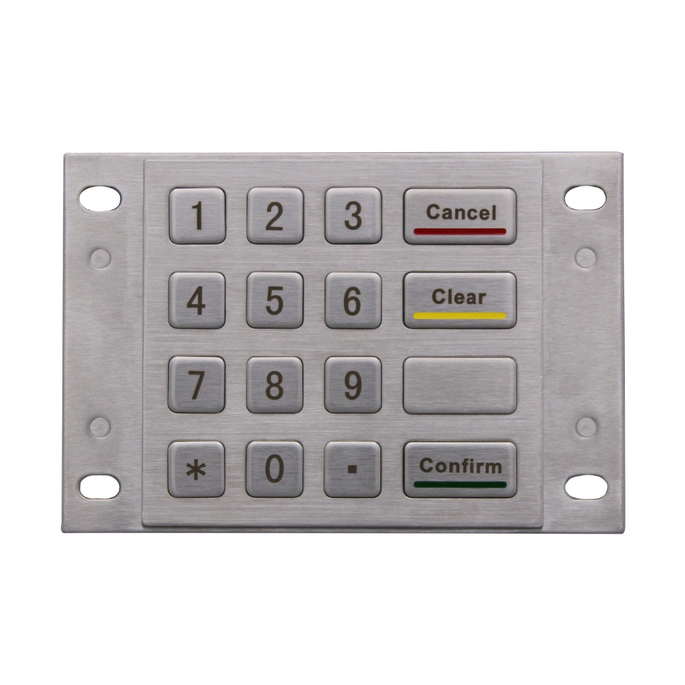 Metal Numeric keypad Bank password keyboard Metal mechanical Keypad programmable usb emulator rs232 interface 15keys numeric keyboard password pin pad yd531 with lcd support epos system