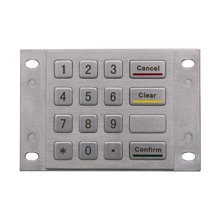 Metal Numeric keypad Bank password keyboard mechanical Keypad
