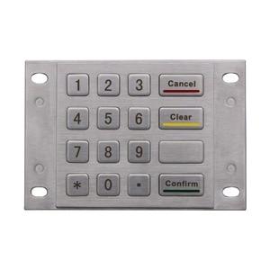 OEM Kiosk 16 Keys 4x4 Matrix Stainless Steel Industrial USB Wired Custom Metal Button Keypad Vandal Proof Rugged Keyboard(China)