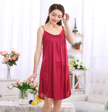 Silk Belt  Women Summer Nightgown Ice Silk Lace Sexy Temptation Leisurewear Nightclothes 8 colors