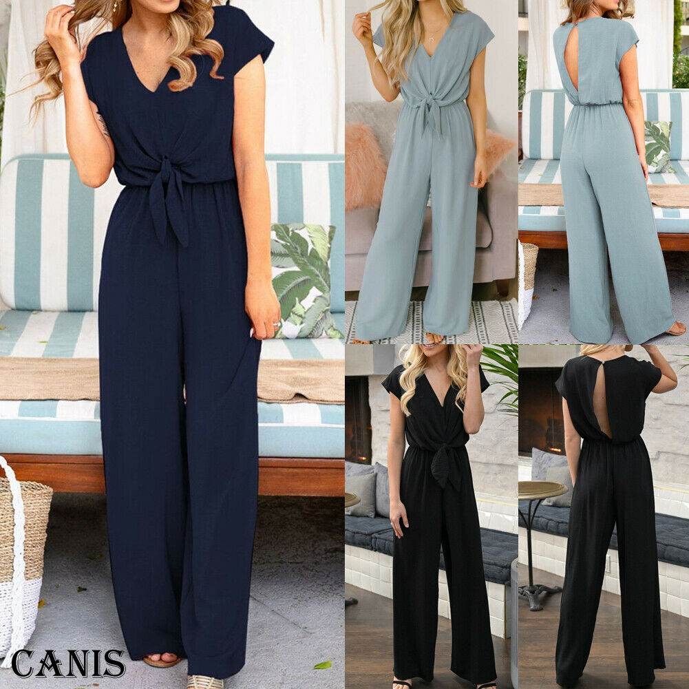 OL Ladies Clubwear Summer High Waist Playsuit Bodycon Party Jumpsuit Romper Trousers Lot 3 Colors