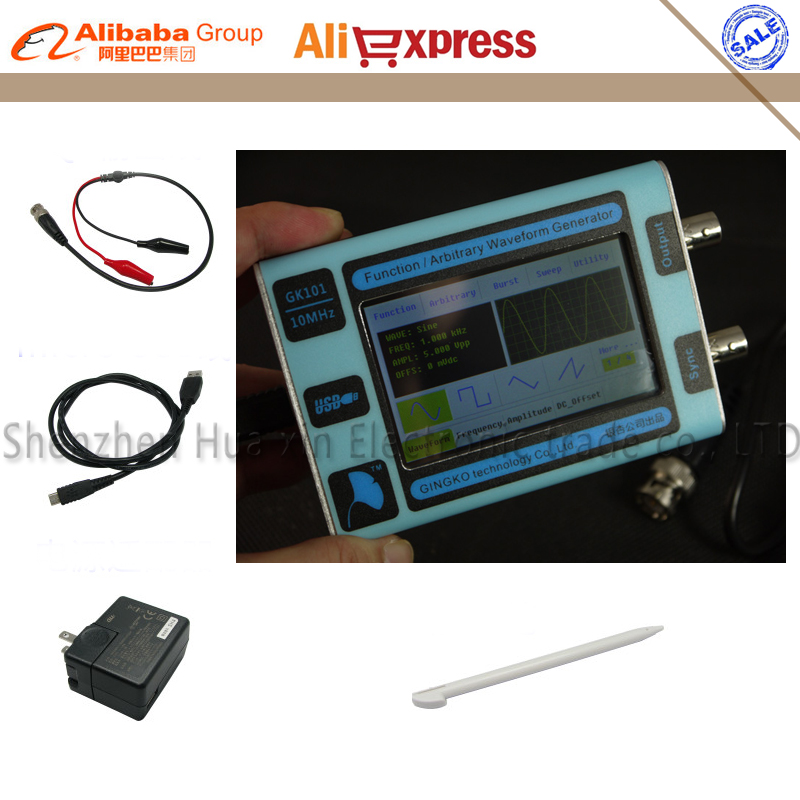 цены  Color LCD touch screen DDS Signal Generator Arbitrary waveform generator Function generator 80MSa/s 10MHz New English version