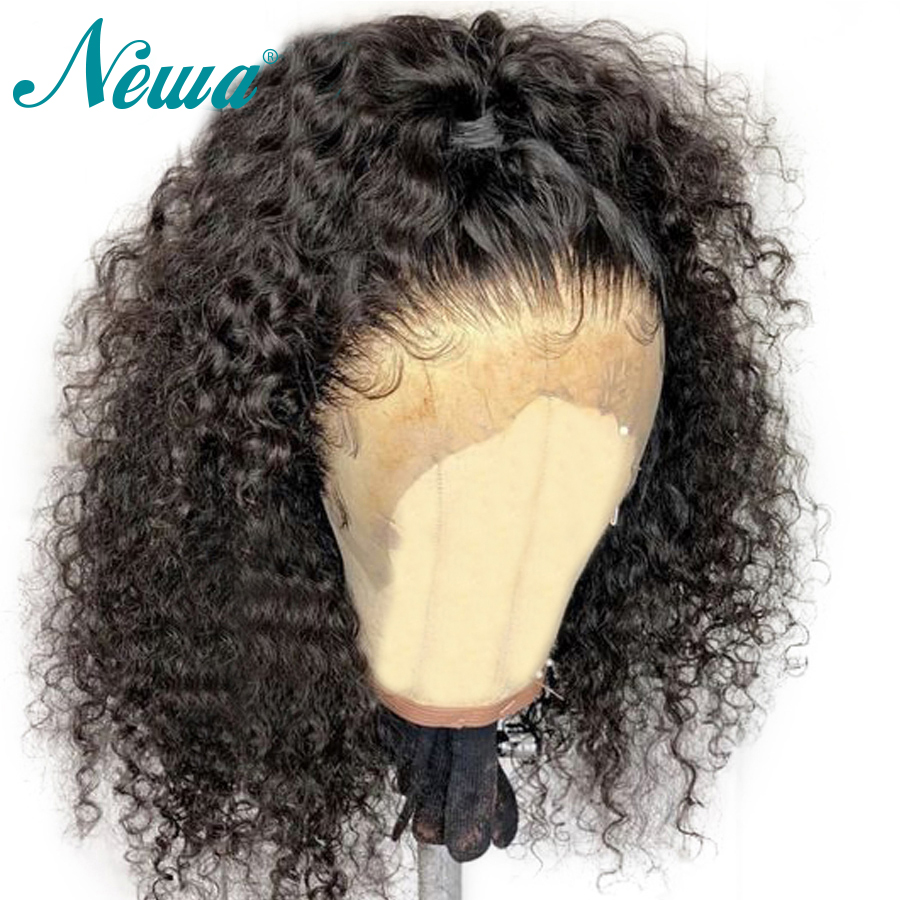 NYUWA 360 Lace Frontal Wig Pre Plucked Hairline Brazilian Remy Curly Lace Front Human Hair Wigs