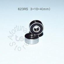 623RS 3*10*4 (Mm) 10 Stukken Lager ABEC-5 Chroom Stalen Lagers 10 Pcs Rubber Sealed Miniatuur Mini Lager Gratis Verzending