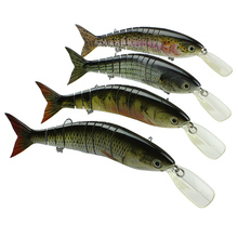 Mmlong High Quality Professional Fishing Lure Big Multi Jointed Crankbait Slow Sinking Swimbait Hard Fish Bait Tackle AL11-M