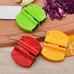 Image 5 - Портативная мини точилка для кухонных ножей, кухонные инструменты, аксессуары, креативный Тип бабочки, двухступенчатая точилка для карманных ножей для кемпинга