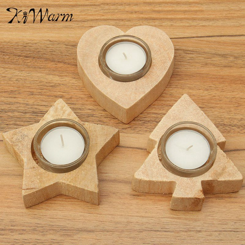 Online get cheap wooden candle holders for Wooden candlesticks for crafts