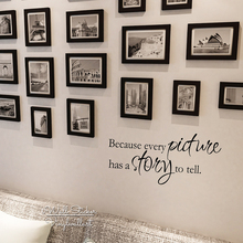 Every Picture Has A Story To Tell Quote Wall Sticker Quotes Decal Family Photo DIY Easy Art Cut Vinyl Q127