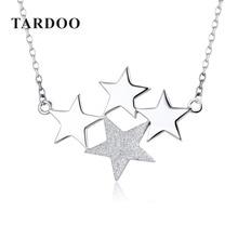 Tardoo Auténtica Plata 925 Collares de la joyería para Las Mujeres Estrella Colgantes Collares de La Joyería Fina de moda Elegante