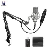 Ituf New Professional Condenser Microphone For Computer Bm 800 Audio Studio Vocal Recording Mic KTV Karaoke
