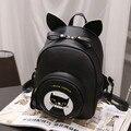 Women's mini Cat ears Backpacks PU Leather Backpacks Girl School Bag High Quality Ladies Bags Designer Women Backpack Bolsas